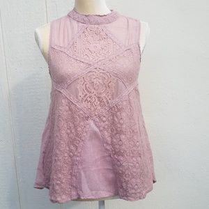 Umgee lace overlay blouse size small